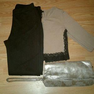 Top + Jeans + Arm- Wear